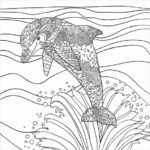Dolphin Coloring Pages Hard