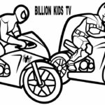 Coloring Pages Spiderman Motorcycle