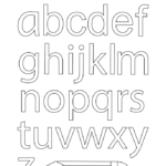 Coloring Pages Lowercase Alphabet