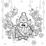 Christmas Coloring Pages For Adults Easy