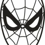 Printable Spiderman Mask Coloring Pages