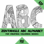 Zentangle Coloring Pages Alphabet