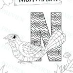 Animal Alphabet Coloring Pages Pdf