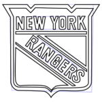 Rangers Hockey Coloring Pages