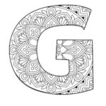 The Letter G Alphabet Coloring Pages