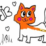 Coloring Kitty And Painting Doraemon For Toddlers