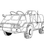 Coloring Pages Military Vehicles