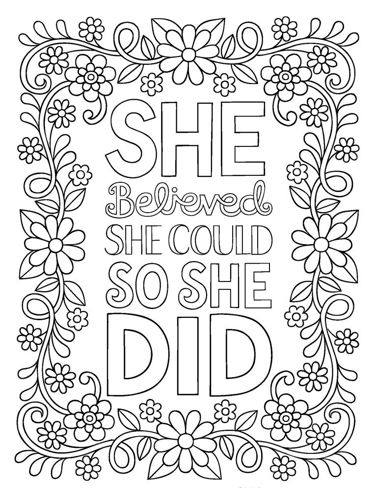 Quote Coloring Pages For Adults for Android - APK Download