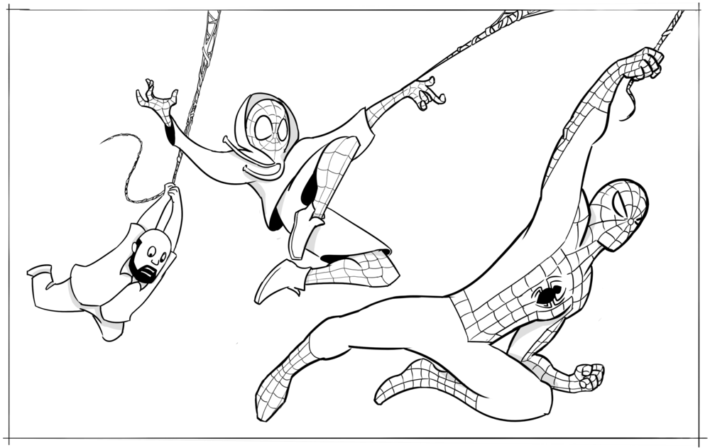 Miles Morales Spider Man Coloring Pages Coloring Pages
