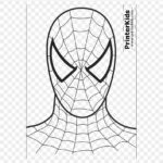 Spiderman Mask Coloring Page
