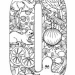 Alphabet Coloring Pages For Adults Free