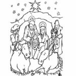 Christmas Coloring Pages Printable Jesus