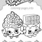 Cupcake Shopkins Coloring Pages