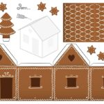 Printable Gingerbread House Colouring Page