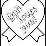 Christian Coloring Pages For Valentines Day