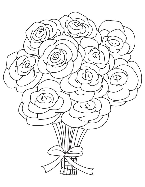 Bouquets Coloring Pages - Coloring Home