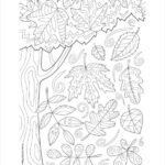 Fall Coloring Pages Simple