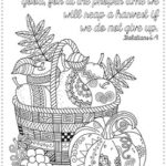 Thanksgiving Bible Coloring Pages Printables