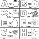 Free Printable Alphabet Coloring Pages For Kindergarten