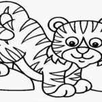 Coloring Pages Tiger Baby
