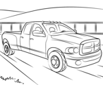 Dodge Truck Coloring Pages Printable