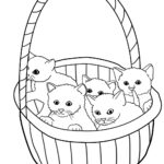 Cute Kitty Cat Coloring Pages