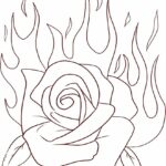 Printable Rose Flower Coloring Pages