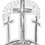 Coloring Pages Easter Cross