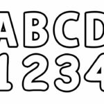 Coloring Pages Numbers And Letters