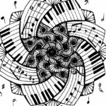 Coloring Pages Music Notes
