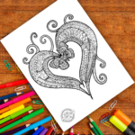 Coloring Pages Of Butterflies And Hearts