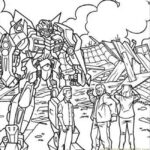 Transformers Printable Coloring Pages Pdf