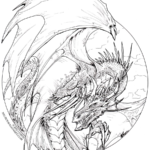 Dragon Coloring Pages Detailed