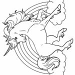 Free Printable Unicorn Cake Coloring Pages