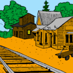 Coloring Page For Train Station