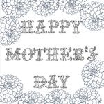 Free Printable Mothers Day Colouring Pictures