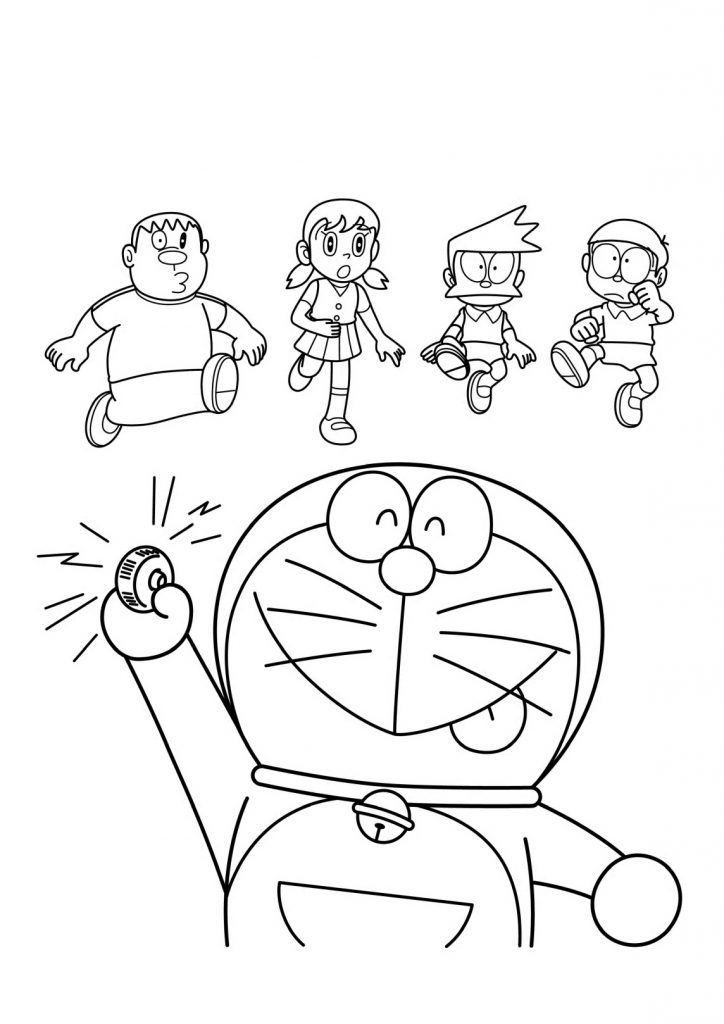 Many Doraemon coloring sheets for kids - Coloring pages ...
