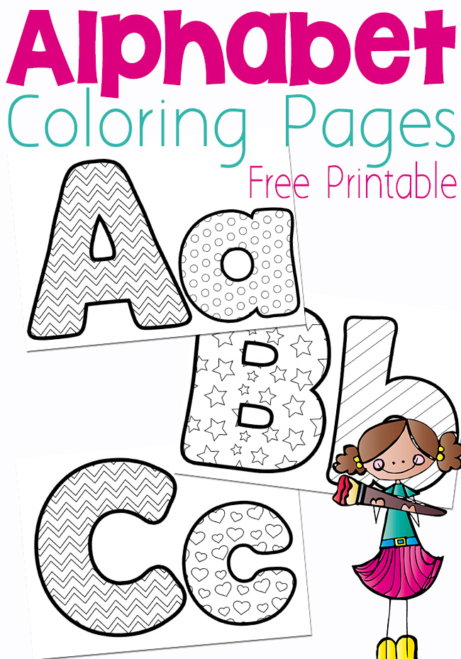 Free Printable Alphabet Coloring Pages - Money Saving Mom®