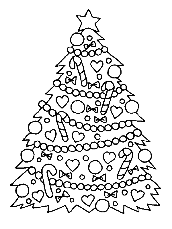 Gorgeous Christmas Tree For Christmas Coloring Page ...