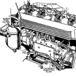 Diesel Train Engine Coloring Pages