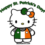 Hello Kitty St Patrick's Day Coloring Pages