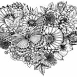 Coloring Pages With Flowers And Butterflies