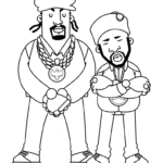 Rapper Coloring Pages Free
