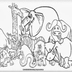 Printable Coloring Pages Of Zoo Animals