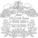 Inspirational Quotes Coloring Pages Printable Pdf