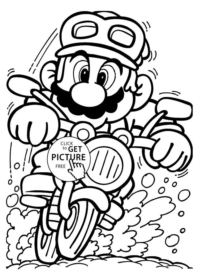 21+ Excellent Picture of Mario Coloring Pages ...