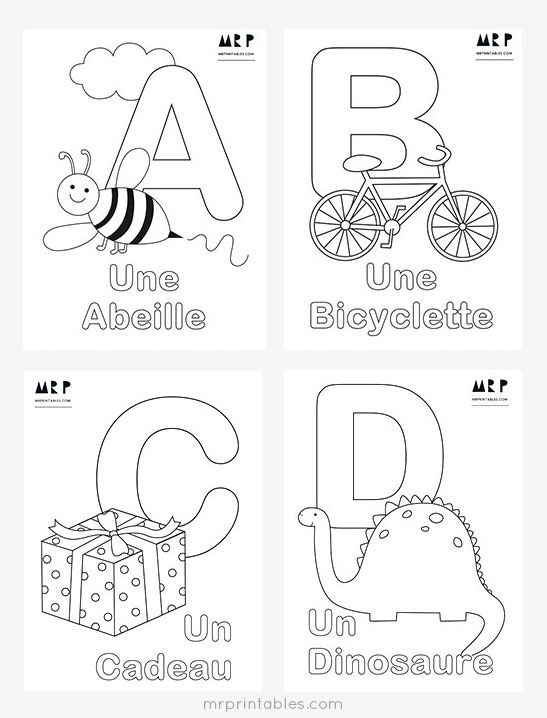 French Alphabet Coloring Pages - Mr Printables | French ...