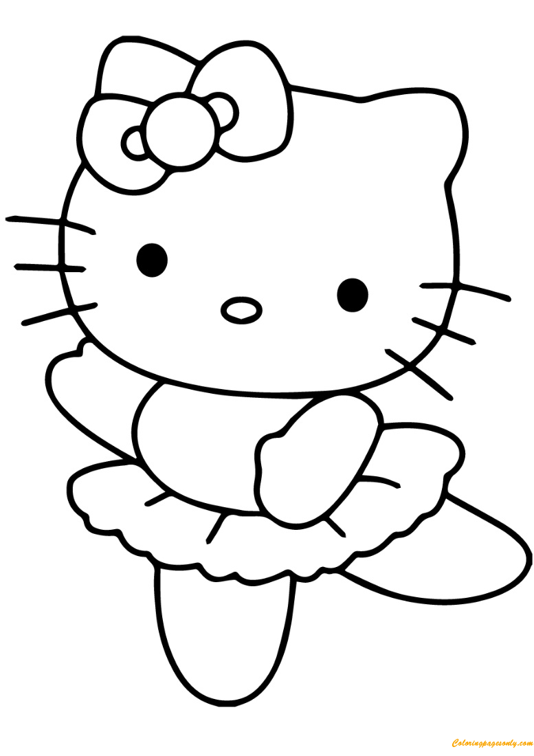 Hello Kitty Ballerina Coloring Pages - Cartoons Coloring ...