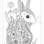Free Printable Bunny Coloring Pages For Adults