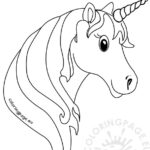 Unicorn Head Coloring Pictures